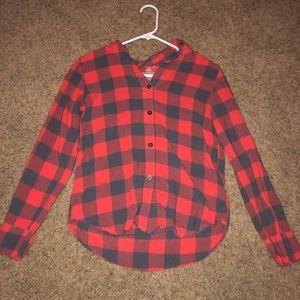 Plaid 2 Piece Pajama Set